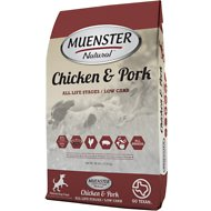 Muenster Natural Chicken & Pork All Life Stages Dry Dog Food, 15-lb bag