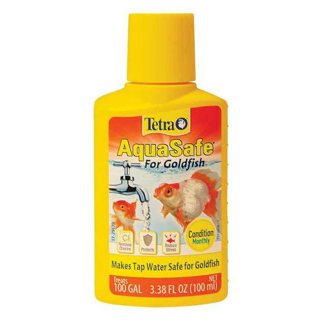 Tetra aquasafe for goldfish tap water conditioner for How to make tap water safe for fish without conditioner