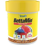 Tetra Betta Floating Mini Pellets Color Enhancing Fish Food, 1.02-oz jar