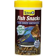 Tetra Fish Snacks Sun Dried Anchovies Fish & Turtle Treats, 1.13-oz jar