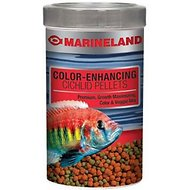 Marineland Color-Enhancing Cichlid Pellet Fish Food, 2.89-oz jar