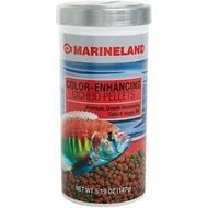 Marineland Color-Enhancing Cichlid Pellet Fish Food, 5.19-oz jar