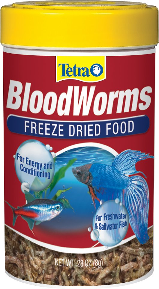 Tetra bloodworms freeze dried freshwater saltwater fish for Freshwater fish food