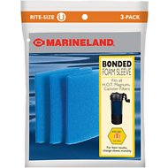 Marineland Bonded Foam Sleeve Rite-Size U Filter Media, 3 count