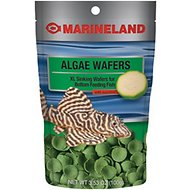 Marineland Algae Wafer XL Bottom Feeder Fish Food, 3.53-oz bag