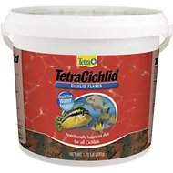 Tetra Cichlid Flakes Cichlid Fish Food, 1.75-lb bucket