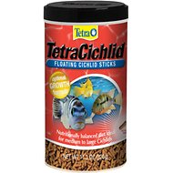 Tetra Cichlid Floating Cichlid Sticks Fish Food, 11.30-oz jar