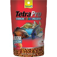 Tetra Pro Extra Large Cichlid Color Pellet Fish Food, 7.48-oz jar