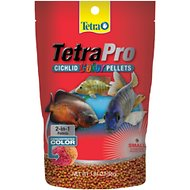 Tetra Pro Small Cichlid Color Pellet Fish Food, 1.94-oz bag