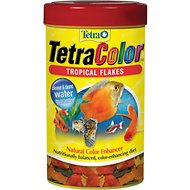 Tetra Color Tropical Flakes Fish Food, 2.20-oz jar