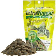 Tetra Veggie Extreme Algae Wafers Bottom Feeder Fish Food, 2.12-oz bag