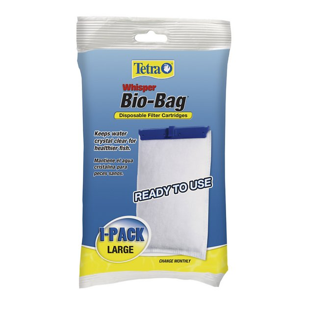 Tetra whisper bio bags large filter cartridge 1 count for Tetra pond filter setup