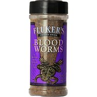 Fluker's Freeze-Dried Blood Worms Reptile Treats, .7-oz jar