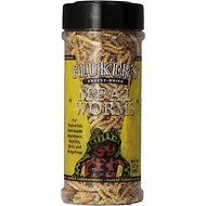 Fluker's Freeze-Dried Mealworms Reptile Treats, 1.7-oz jar