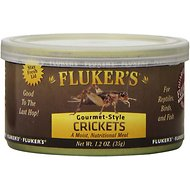 Fluker's Gourmet-Style Crickets Reptile Food, 1.2-oz can