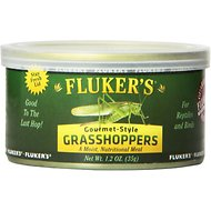 Fluker's Gourmet-Style Grasshoppers Reptile Food, 1.2-oz can