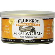 Fluker's Gourmet-Style Mealworms Reptile Food, 1.2-oz can