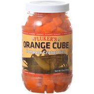 Fluker's Orange Cube Complete Cricket Diet Reptile Supplement, 12-oz jar