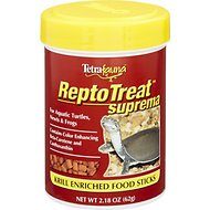 Tetrafauna ReptoTreat Supreme Krill Enriched Sticks Turtle, Newt & Frog Treats, 2.18-oz jar