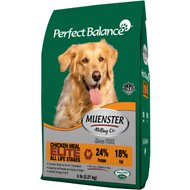 Muenster Perfect Balance Elite Chicken Meal All Life Stages Dry Dog Food, 40-lb bag