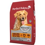 Muenster Perfect Balance Maintenance Pork Meal All Life Stages Dry Dog Food, 5-lb bag