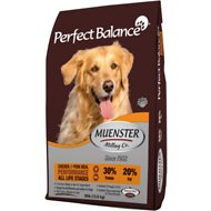 Muenster Perfect Balance Performance Chicken & Pork Meal All Life Stages Dry Dog Food, 40-lb bag