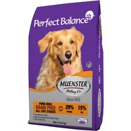 Muenster Perfect Balance Grain-Free Pork Meal All Life Stages Dry Dog Food, 30-lb bag
