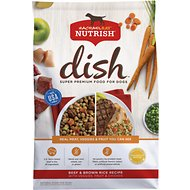 Rachael Ray Nutrish Dish Natural Beef & Brown Rice Recipe Dry Dog Food, 11.5-lb bag