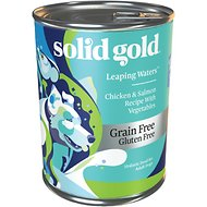 Solid Gold Leaping Waters Chicken, Salmon & Vegetable Recipe Grain-Free Small & Medium Breed Canned Dog Food, 13-oz can, case of 12