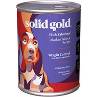Solid Gold Fit & Fabulous Alaskan Polluck Recipe Weight Control Canned Dog Food, 13-oz can, case of 12