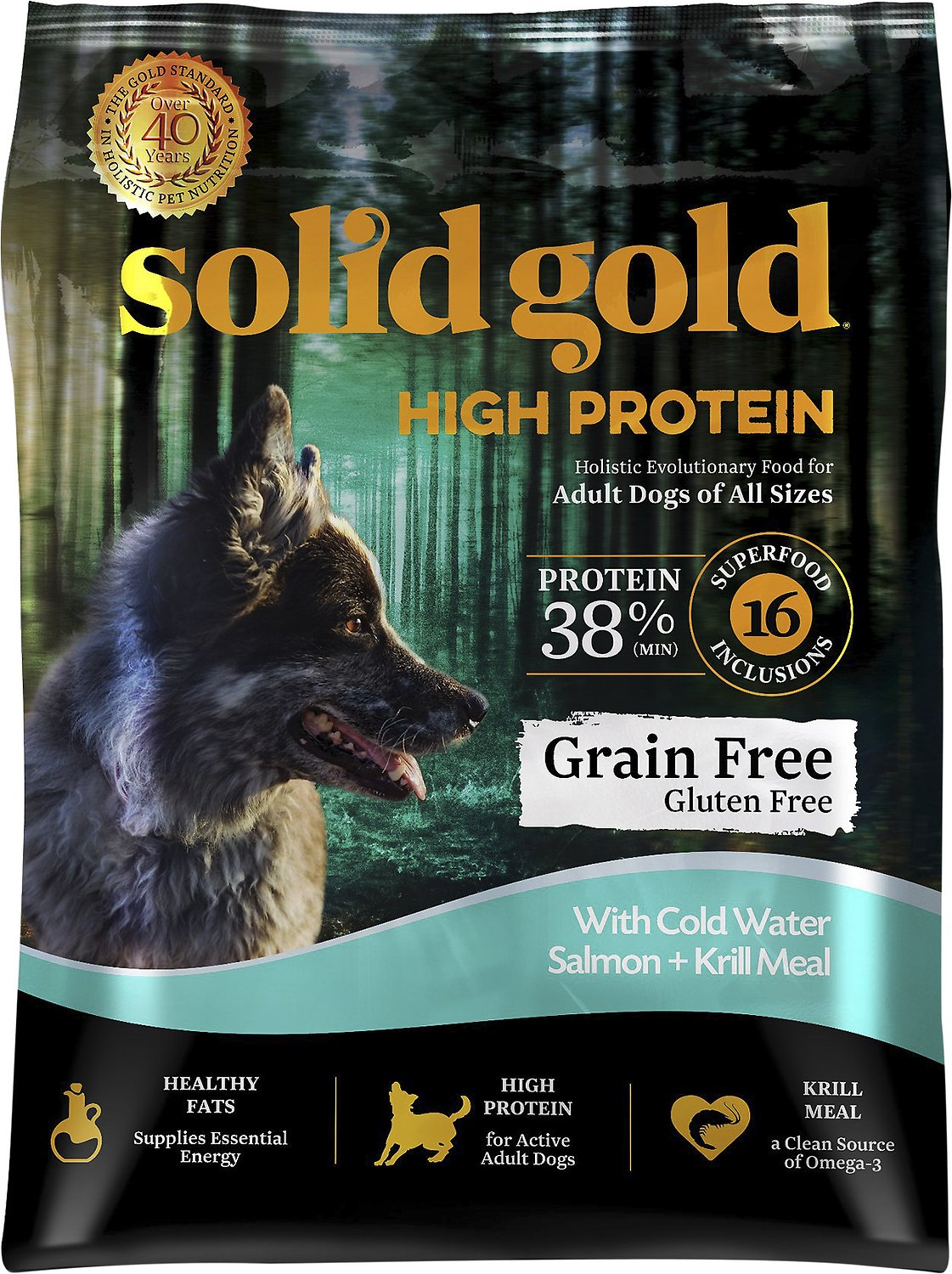 Solid Gold High Protein Grain Free Cold Water Salmon Krill Meal