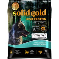 Solid Gold High Protein Grain-Free Cold Water Salmon & Krill Meal Recipe Adult Dry Dog Food, 22-lb bag