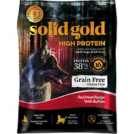Solid Gold High Protein Grain-Free Red Meat with Buffalo Recipe Adult Dry Dog Food, 22-lb bag