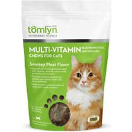 Tomlyn Multi-Vitamin Smokey Meat Flavor Cat Chews, 30 count bag