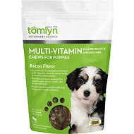 Tomlyn Multi-Vitamin Bacon Flavor Puppy Chews, 30 count bag
