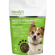 Tomlyn Multi-Vitamin Bacon Flavor Small Dog Chews, 30-count bag