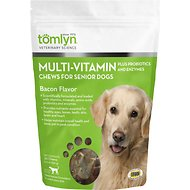 Tomlyn Multi-Vitamin Bacon Flavor Senior Dog Chews, 30 count bag