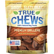 True Chews Premium Grillers with Real Salmon Dog Treats, 12-oz bag
