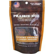 Prairie Dog Texas Sausages Country Chicken & Sweet Potato Dog Treats, 4-oz bag