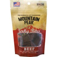 Prairie Dog Mountain Peak Jerky Bites Beef Dog Treats, 4-oz-bag