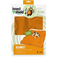 Insect Shield Bug Repellent Dog Blanket, Orange, Large