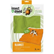 Insect Shield Bug Repellent Dog Blanket, Green, Large