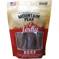 Prairie Dog Mountain Peak Jerky Beef Dog Treats, 10-oz bag