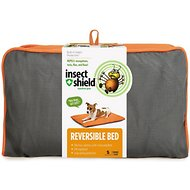 Insect Shield Bug Repellent Reversible Dog Bed, Orange/Slate, Small