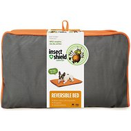 Insect Shield Bug Repellent Reversible Dog Bed, Orange/Slate, Medium