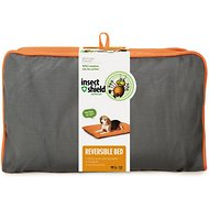 Insect Shield Bug Repellent Reversible Dog Bed, Orange/Slate, Medium/Large