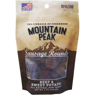 Prairie Dog Mountain Peak Sausage Rounds Beef & Sweet Potato Dog Treats, 4-oz bag