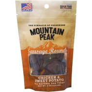 Prairie Dog Mountain Peak Sausage Rounds Chicken & Sweet Potato Dog Treats, 4-oz bag