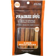 "Prairie Dog Odor Free 6"" Bully Stick Dog Treat, 5 count"