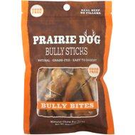 Prairie Dog Odor Free Bully Sticks Bully Bites Dog Treats, 4-oz-bag
